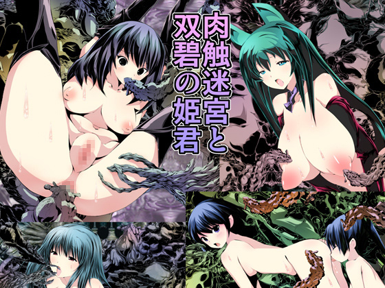 【新着同人】肉触迷宮と双碧の姫君のトップ画像